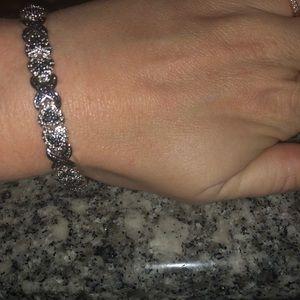 Jewelry - sapphire and diamond accented tennis bracelet
